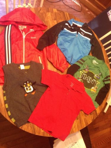 Lot Of 5 boys winter clothes jackets shirts tops sweater size 5 kids