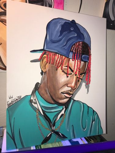 LIL YACHTY LIL BOAT SAILING TEAM 16x20in ART ACRYLIC PAINTING