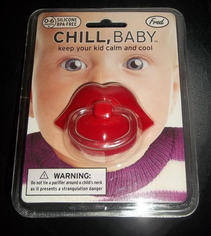 Fred Pacifier ' Red Lips ' Chill, Baby - NIP