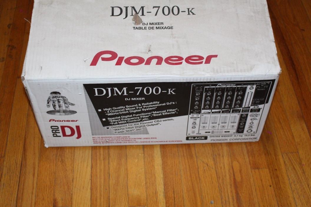 Pioneer DJM-700-K DJ Mixer With Original Box