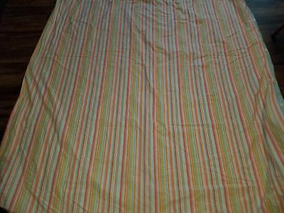 pottery barn kids twin duvet cover multi-colored striped & blue green white flow