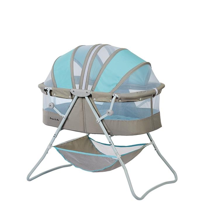 Bassinet Karley Blue Grey Dream Me Baby Mosquito Net - Free Shipping
