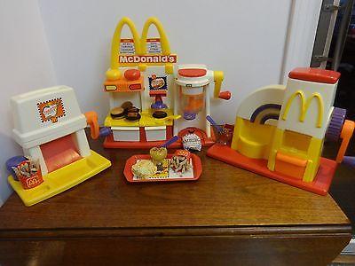 Mattel McDonalds Toy Hamburger, French Fry, and Frozen Dessert Treat Makers