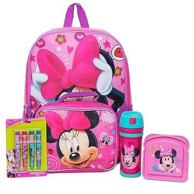 Disney Minnie Mouse Bowtique Backpack Bundle