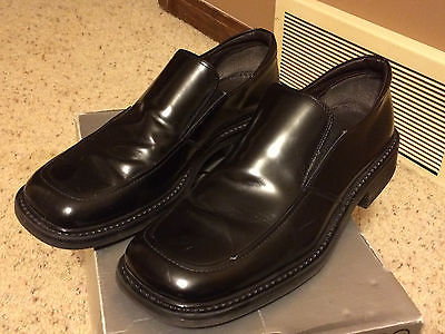 Aldo Garton Men's Black Leather Dress Shoes Size 44, US 11