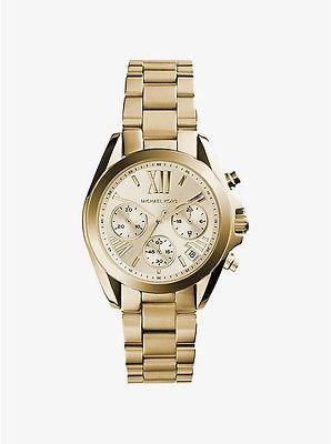 Michael Kors Women's MK5798 Bradshaw Chronograph Gold-Tone Stainless Steel Watch