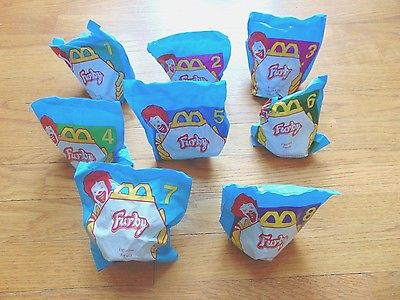 1998 McDonald's FURBY Happy Meal toys - COMPLETE SET of 8 - Mint in Package
