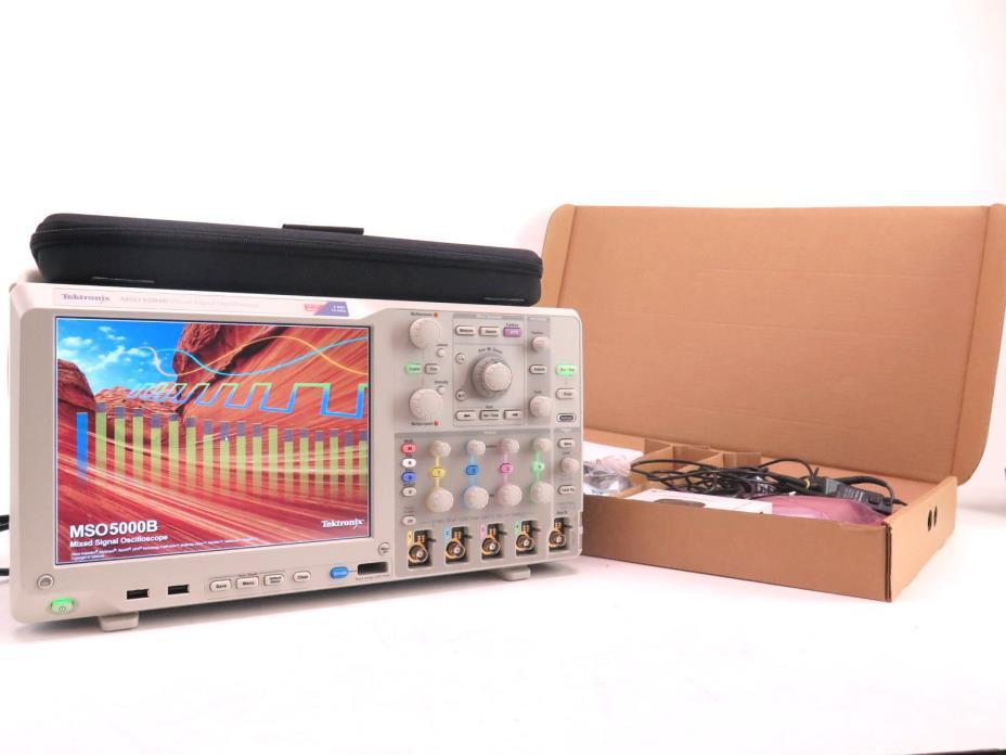 New Tektronix MSO 5204B Mixed Signal Oscilloscope W/Full accessory kit