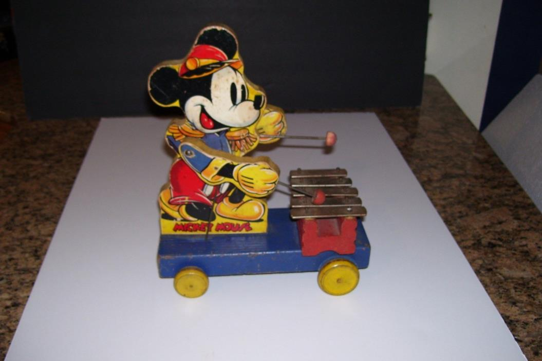 1939 Fisher Price MICKEY MOUSE PULL TOY