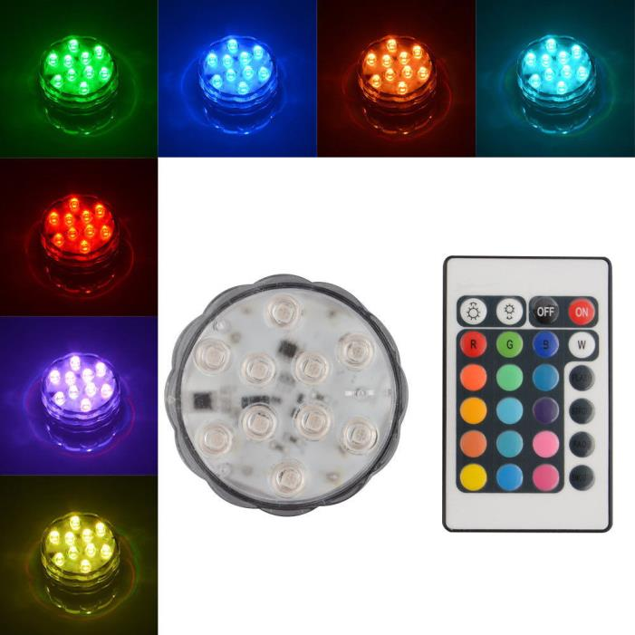 2pc 10 LED Multi Color Submersible Waterproof Wedding Party Vase Base Light