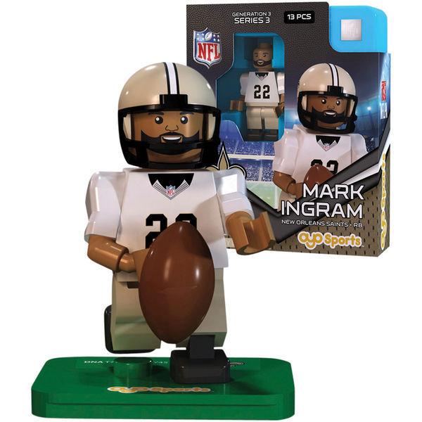 Mark Ingram New Orleans Saints NFL minifigure Oyo Sports NIB Generation 3