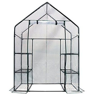 Plant Mini Walk In Greenhouse Shade Gardening Shelf Storage Outdoor Patio Lawn