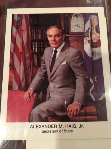 Alexander M. Haig Jr. Secretary Of State Autograph And Picture