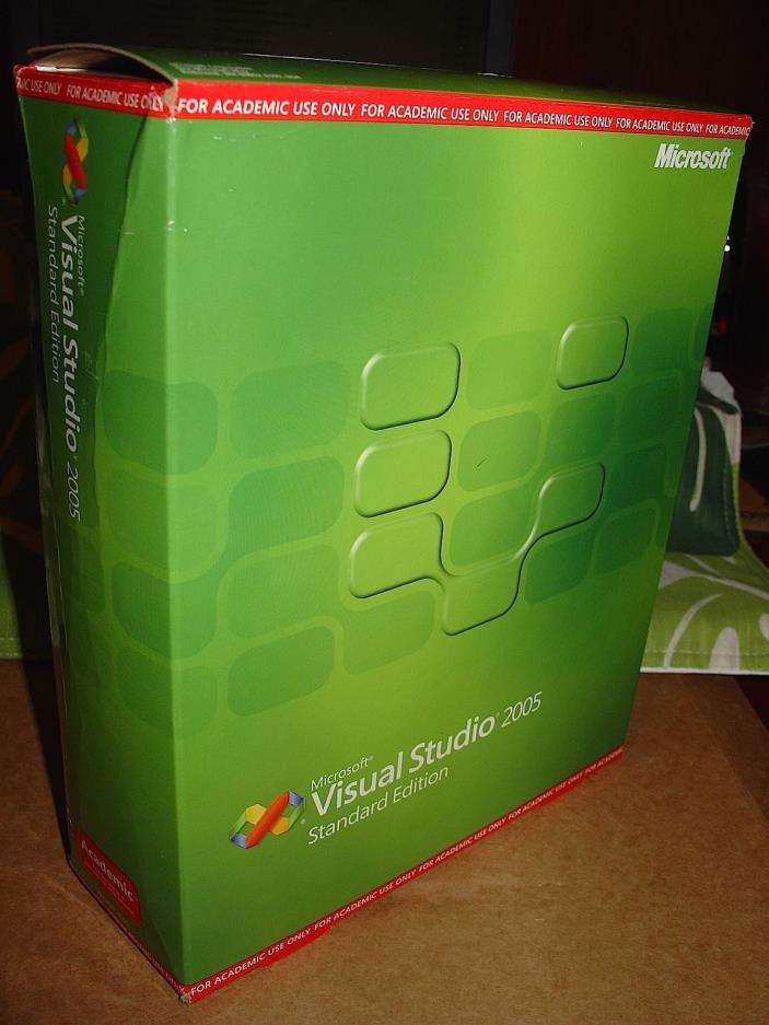 Microsoft Visual Studio 2005 Academic Edition w/ MSDN Library, Tutorial, & Guide