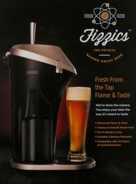 Fizzics Beer System Fresh Draft Taste Tap Keg Portable Brew Dispenser NEW