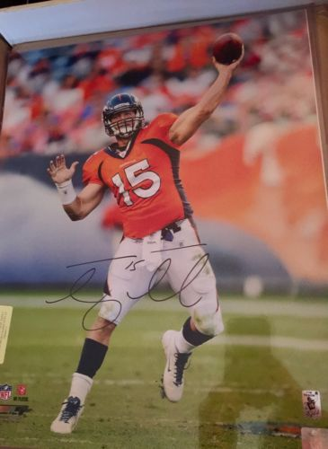 Tim Tebow signed Tebow Holo Broncos Autograph Mets