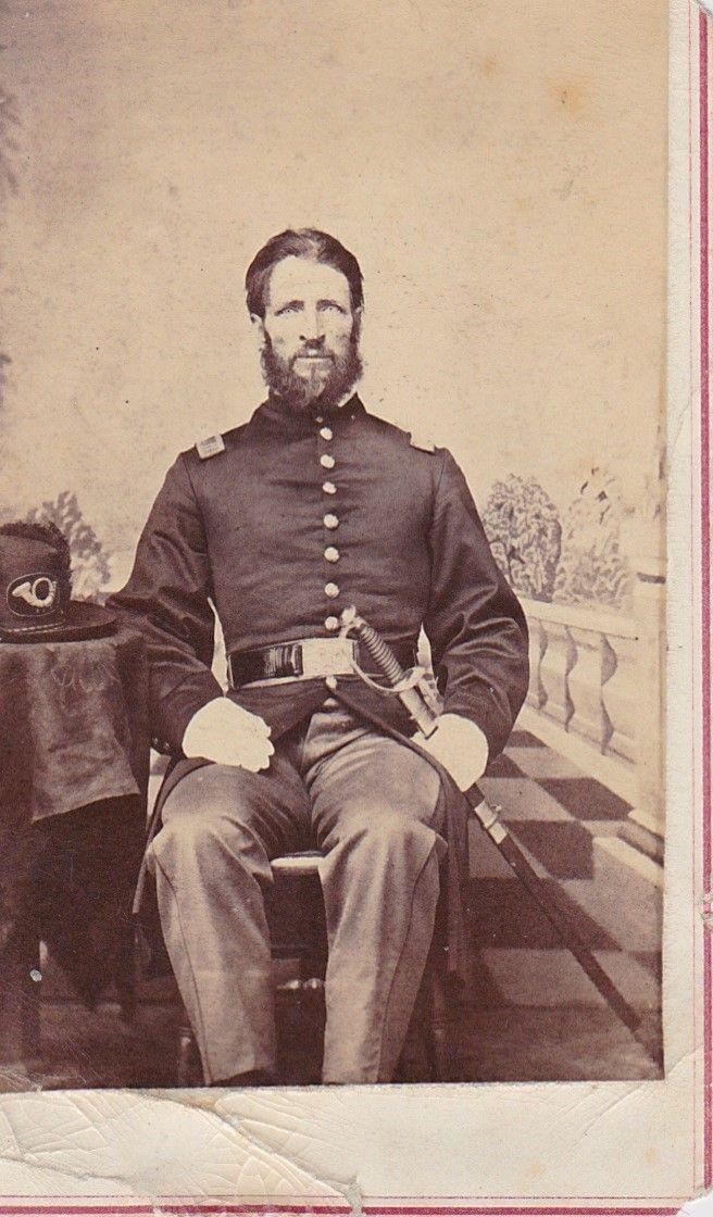 CIVIL WAR CDV OFFICER WITH SWORD