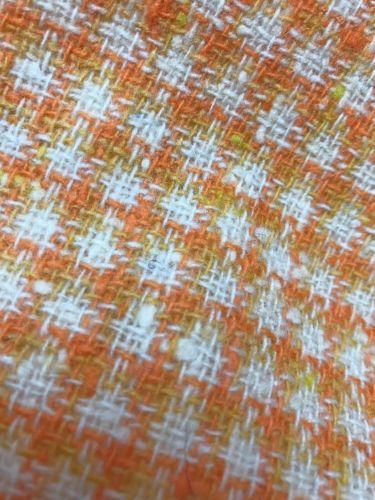 Vintage Wool Tweed Fabric  55X62