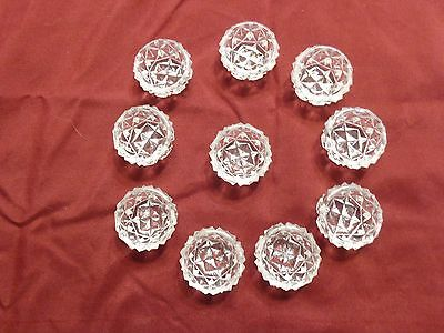 VINTAGE GLASS POACHED/BOILED EGG HOLDERS - SET OF 10