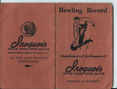 1949 Iroquois Indian Head Beer & Ale Bowling Record Buffalo NY Teams
