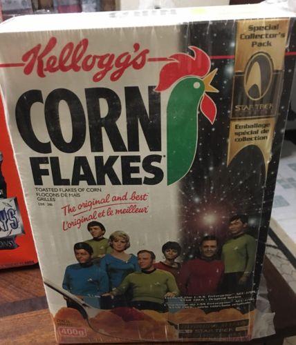 Star Trek Kellogg's Corn Flakes Cereal Box