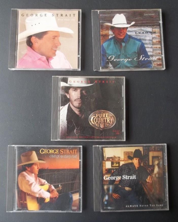 LOT OF 5 GEORGE STRAIT CD COUNTRY MUSIC LEGEND VGC
