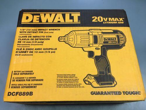 Dewalt 20 Volt Max Cordless Lithium-Ion 1/2