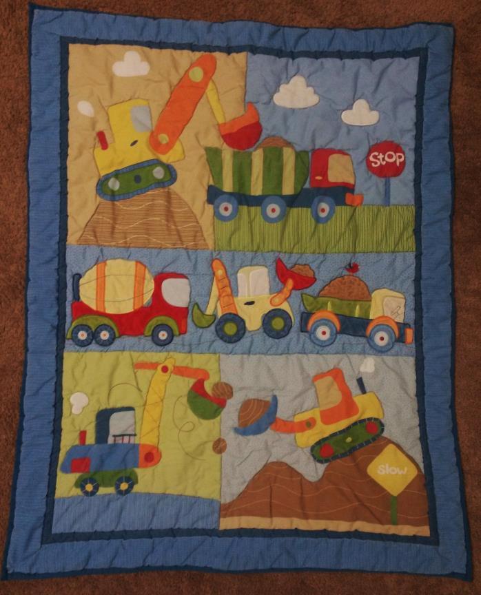Circo Baby Quilt Comforter - Reversible Blanket 33 x 42 Polyester/Cotton Trucks