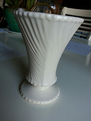 Vintage Matte White McCoy Pottery-Stoneware Vase