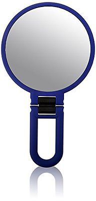 Danielle Soft Touch Hand Held Mirror, Navy