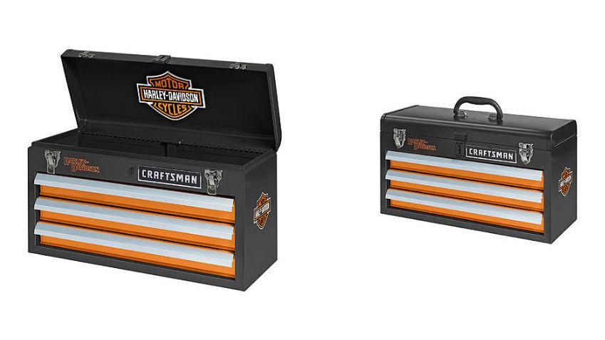 Craftsman Harley Davidson 3 Drawer Portable Tool Chest Toolbox FREE SHIPPING