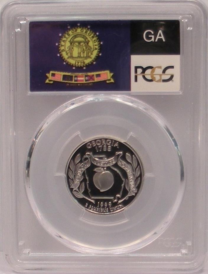1999-S Georgia State Quarter ~Silver~ PCGS PR70 DCAM Deep Cameo