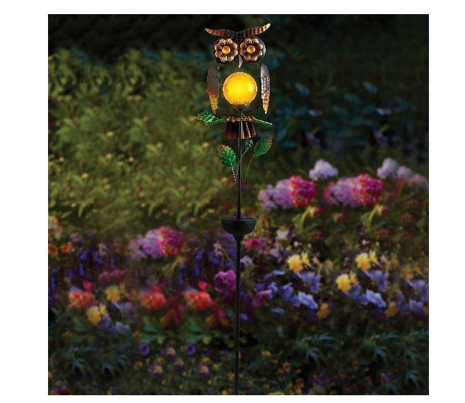 NEW Owl Solar Powered Garden Stake Decortive Lawn Patio Cute Outdoor Decor Yard