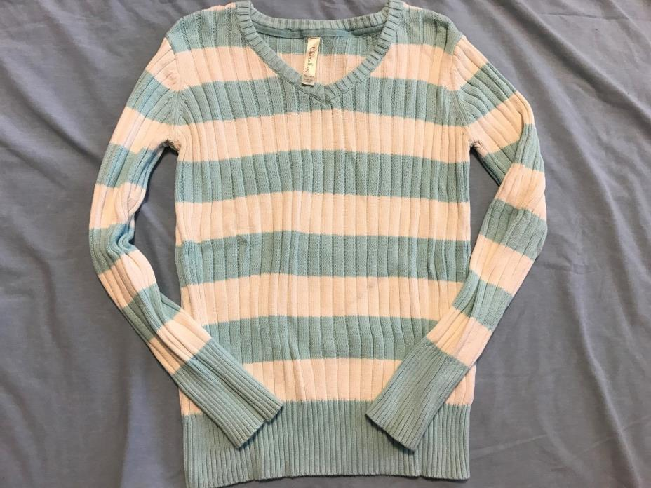 Cherokee Girls sz XL 14/16 Sweater Mint & Off- White - Good condition & low bid!