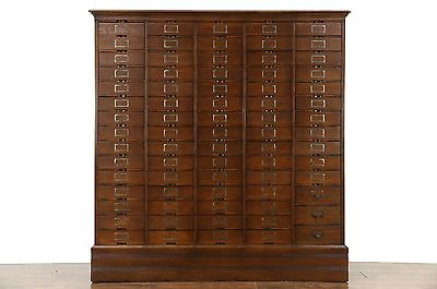 Oak 1910 Antique 74 Drawer Lawyer File or Collector Cabinet