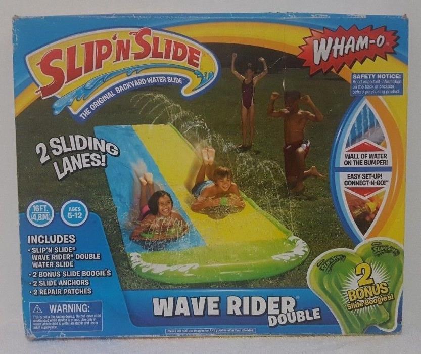 WHAM-O  SLIP`SLIDE  WAVE RIDE DOUBLE 10 FT  WITH 2 BONUS SLIDE BOOGIES.NEW