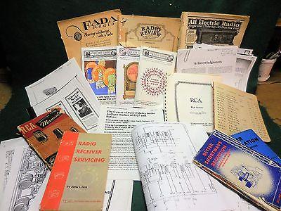 Lot of Vintage Radio Books, Papers, Magazines, Schematics