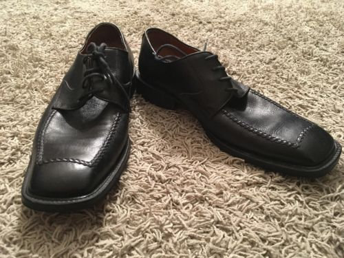 Mens Desantis Collection Black Leather Upper Lace-up Square Toe Dress Shoe Sz11