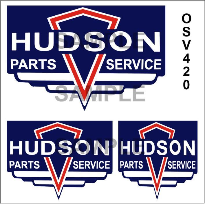 HUDSON SERVICE PEEL & STICK GARAGE BUILDING DIORAMA SIGN DECALS O SCALE OSV420