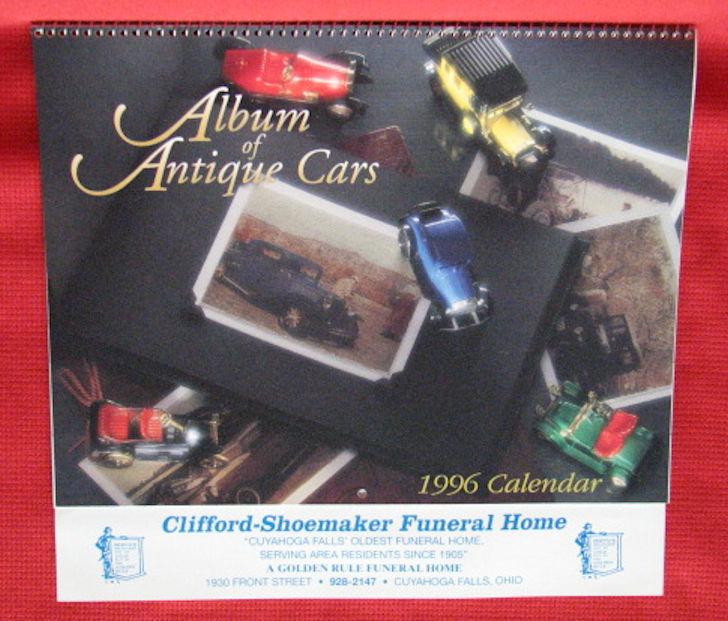 UNUSED calendar - 1996 - Clifford-Shoemaker Funeral Home-Cuyahoga Falls, Ohio