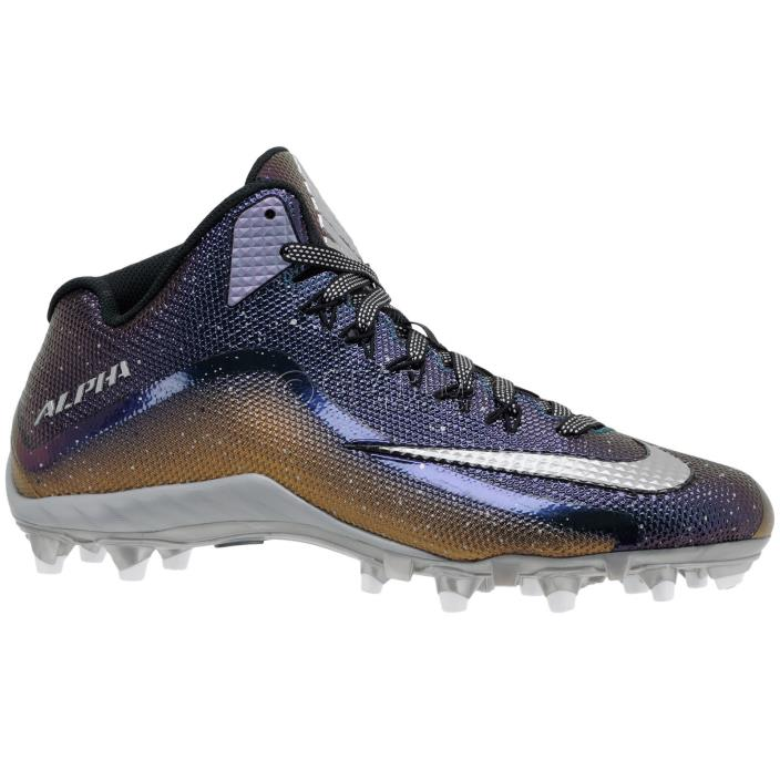 New Nike Alpha Pro 2 3/4 TD LE Mens Football Cleats : Iridescent Black Gold : 15