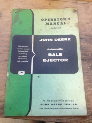 John Deere Automatic Bale Ejector Operator's Manual