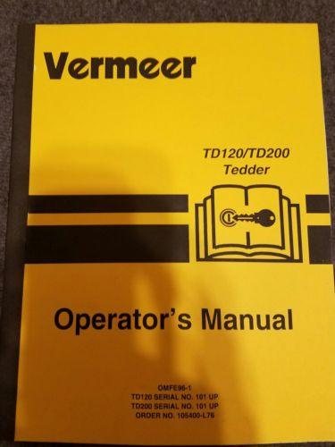 vermeer td120/td200 operator's manual