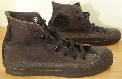 VINTAGE CONVERSE MONOCHROME BLACK HI TOP SNEAKERS MENS SIZE 6 W 8 MADE IN USA