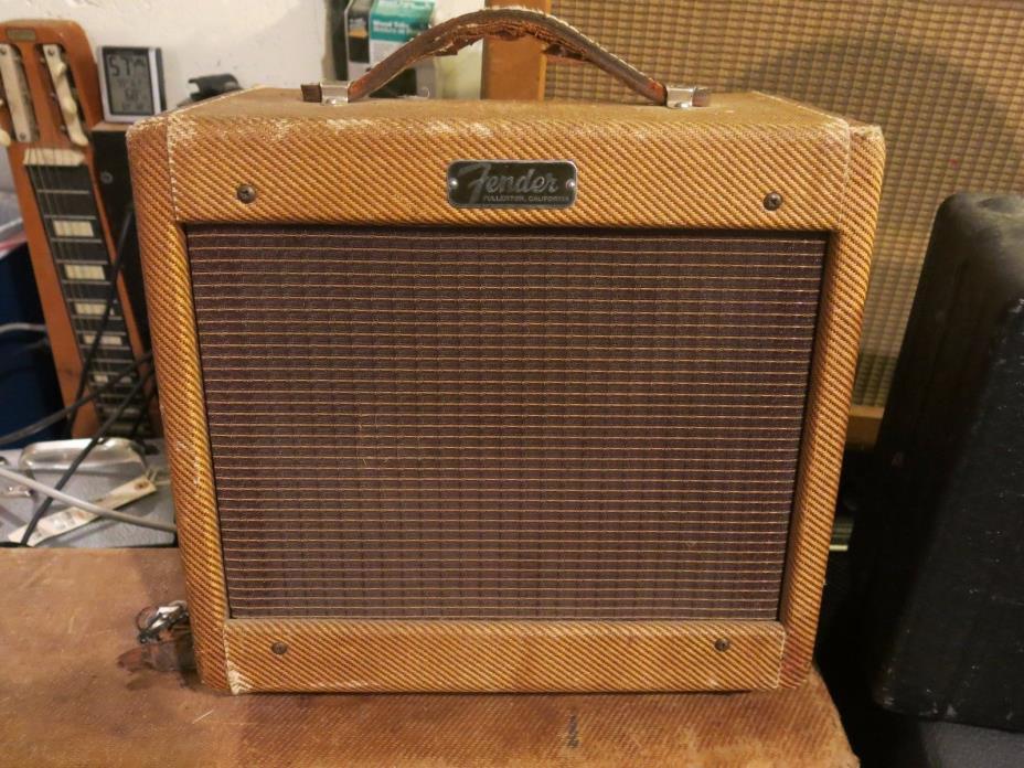 Vintage 1960 Fender Champ Guitar Amp 5F1 Tweed Amplifier.  KILLER!!!