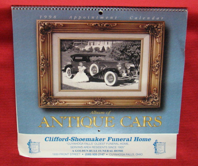 UNUSED calendar - 1998 - Clifford-Shoemaker Funeral Home-Cuyahoga Falls, Ohio