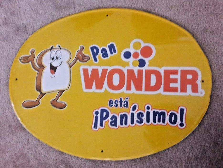 RARE WONDER BREAD TIN SIGN IN SPANISH - 24