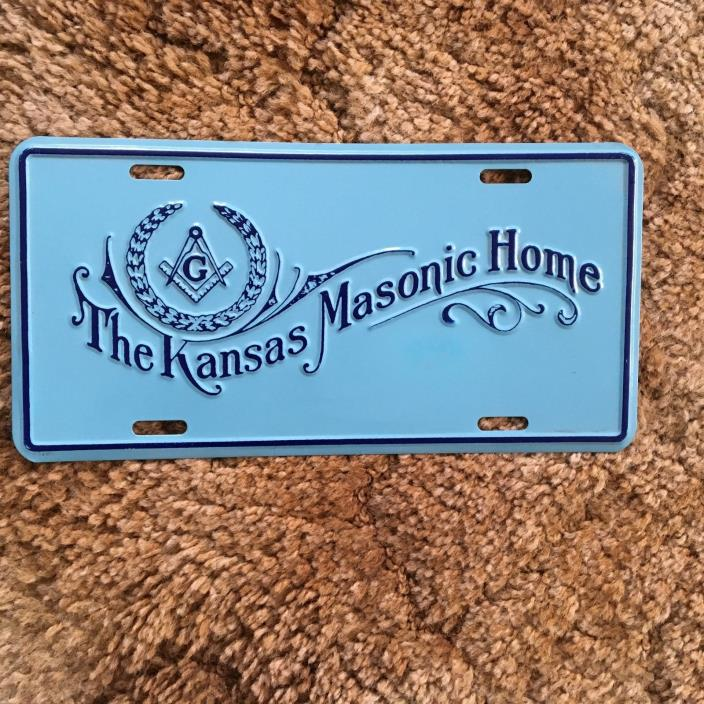 The Kansas Masonic Home License Plate