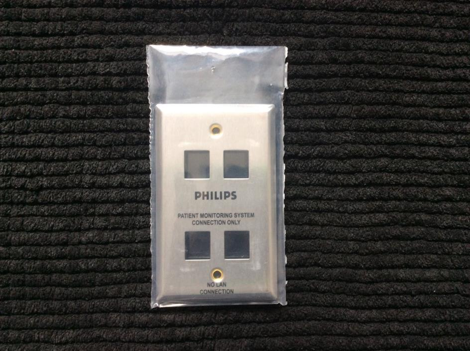 Philips 4 port stainless steel wall plate. 1 Gang blank