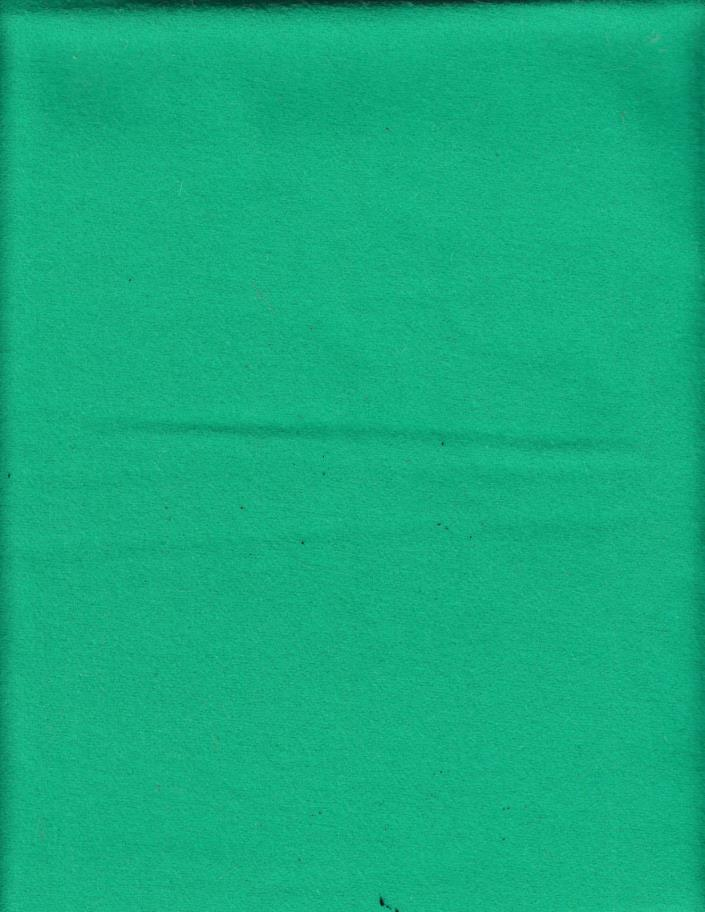 1 1/8 YARD OF SOFT GREEN WOOL FABRIC